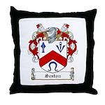 Sexton Family Crest Throw Pillow