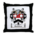 Saunders Family Crest Throw Pillow