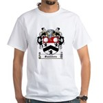 Saunders Family Crest White T-Shirt