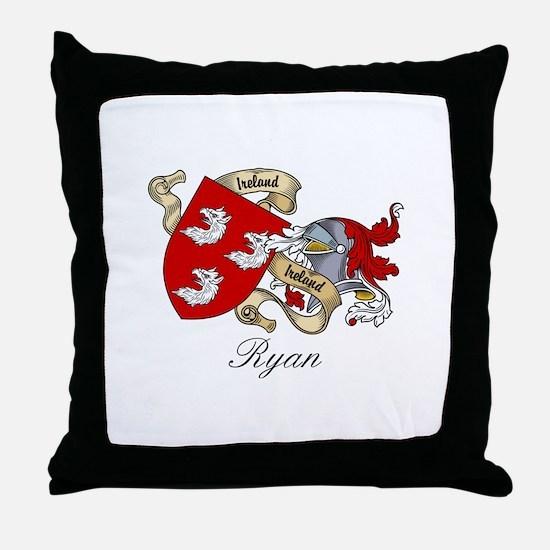 Ryan Family Crest Throw Pillow