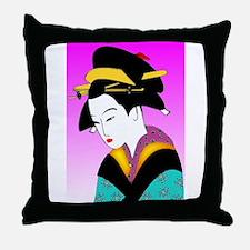 Funny Geisha girls Throw Pillow