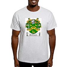 Irish Robinson Family Crest Ash Grey T-Shirt