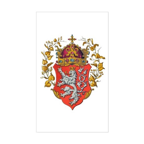 Bohemian King Coat of Arms Sticker (Rectangle)