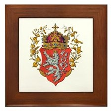 Bohemian King Coat of Arms Framed Tile