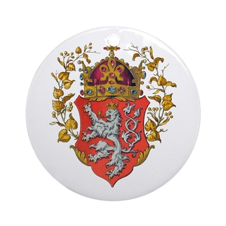 Bohemian King Coat of Arms Ornament (Round)