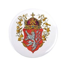 """Bohemian King Coat of Arms 3.5"""" Button"""