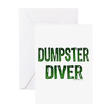 Dumpster diver grunge green Greeting Card