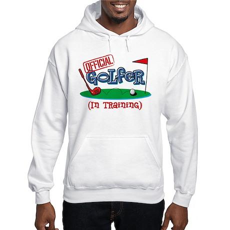 Boy Golfer In Training Hooded Sweatshirt