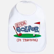 Boy Golfer In Training Bib