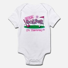 Girl Golfer In Training Infant Bodysuit