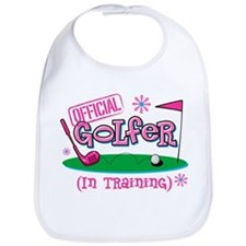 Girl Golfer In Training Bib