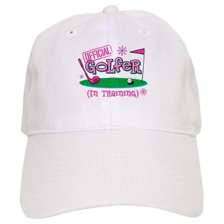 Girl Golfer In Training Cap