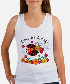 Ladybug Cute As A Bug Women's Tank Top