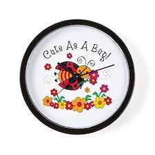 Ladybug Cute As A Bug Wall Clock