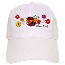 Ladybug Cute As A Bug Baseball Cap