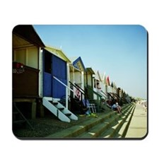Beach huts Mousepad