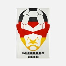 Cute Germany football 2010 Rectangle Magnet