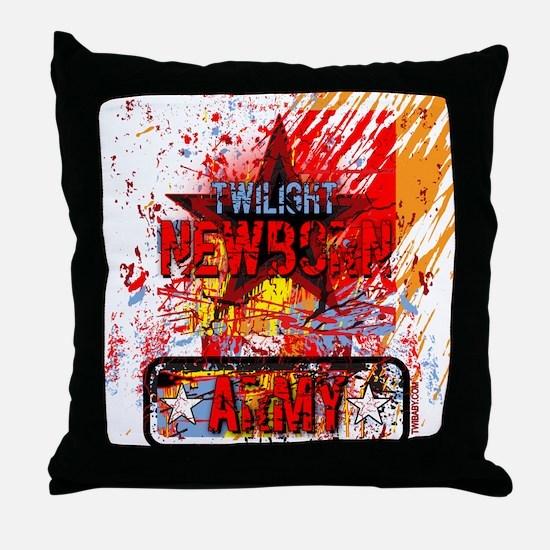 Newborn Army by Twibaby Throw Pillow