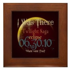 Twilight Eclipse I was There Framed Tile