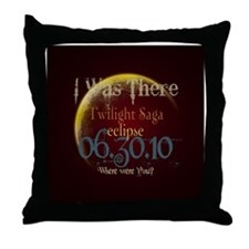 Twilight Eclipse I was There Throw Pillow