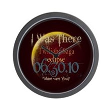 Twilight Eclipse I was There Wall Clock