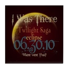 Twilight Eclipse I was There Tile Coaster