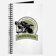 Doberman army green Journal