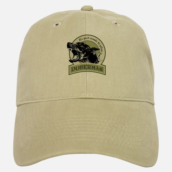 Doberman army green Baseball Baseball Cap
