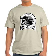 Doberman black/white T-Shirt
