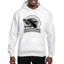 Doberman black/white Hoodie
