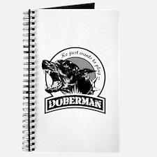 Doberman black/white Journal