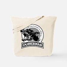 Doberman black/white Tote Bag