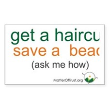 Get a haircut, save a beach Decal