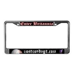 Enter Britannia License Plate Frame