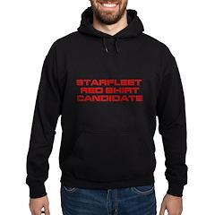 Starfleet Red Shirt Candidate Hoodie (dark)