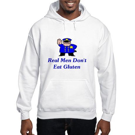 Real Men Don't Eat Gluten Hooded Sweatshirt