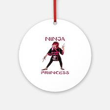 Ninja Princess Round Ornament