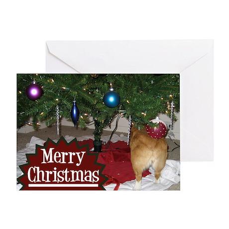 Funny Christmas Corgi Greeting Card