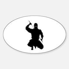 NINJA WARRIOR Sticker (Oval)