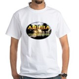 Aruba Mens White T-shirts
