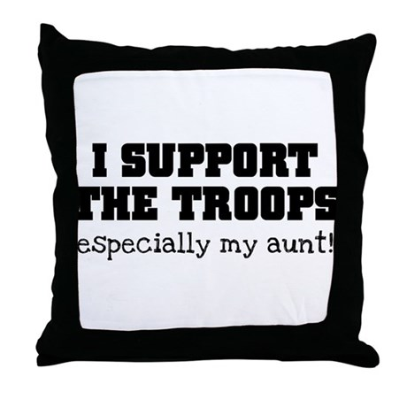 Support our Troops... especia Throw Pillow