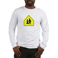 Caution Outsource Ahead Long Sleeve T-Shirt