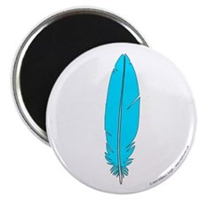 Blue Feather Magnet
