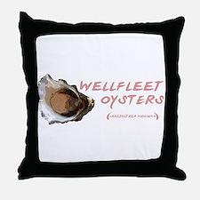 Wellfleet Oysters Throw Pillow