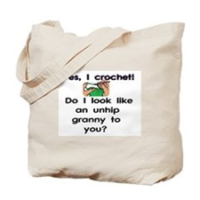 Crochet is hip! Tote Bag