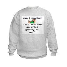 Crochet is hip! Sweatshirt