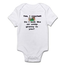Crochet is hip! Infant Bodysuit