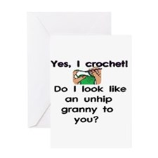 Crochet is hip! Greeting Card