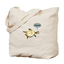 Awkward Turtle Tote Bag