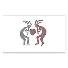 Kokopelli Valentine Rectangle Decal
